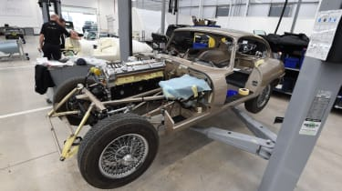 Jaguar E-Type restoration project