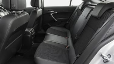 Due to the sweeping roof in the Vauxhall Insignia, headroom for the passengers in the rear is limited.