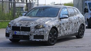 2019 BMW 1 Series spy shot front quarter