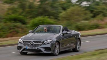 Mercedes E-Class Cabriolet driving