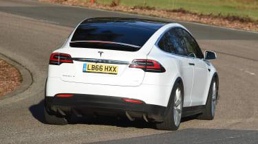 Tesla Model X - rear cornering