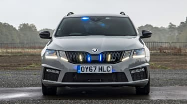 Skoda Octavia Estate undercover police car - head on static