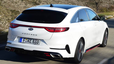 kia proceed gt prototype tracking rear