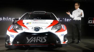 New Toyota Yaris WRC rally car - reveal front