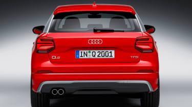 Audi Q2 Red rear dead