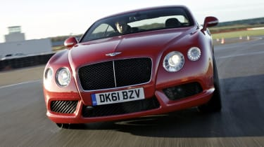 Bentley Continental GT V8 front cornering