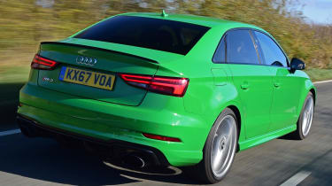 audi rs 3 saloon tracking rear