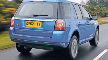The Freelander 2 was facelifted in 2012, with new lights and a more upmarket interior.