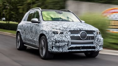 Mercedes GLE prototype - front action