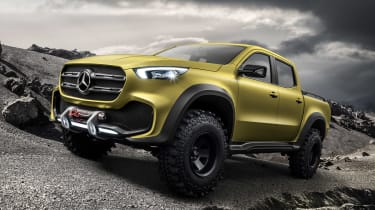 Mercedes X-Class concept - yellow front