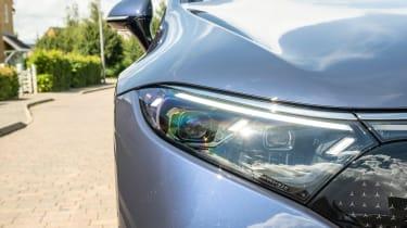New Mercedes EQS 2021 review - headlight