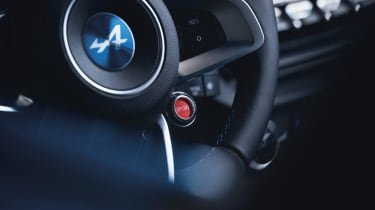 Alpine A110 sports car 2017 - studio steering wheel