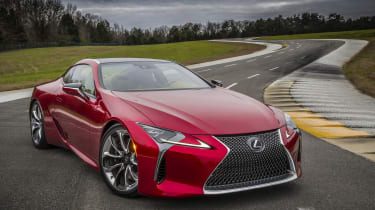 Lexus LC500 front side track