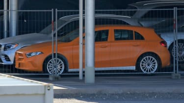 Mercedes A-Class spy shot side profile
