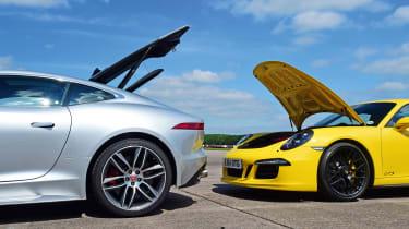 Jaguar F-Type R AWD vs Porsche 911 Carrera 4 GTS - boots