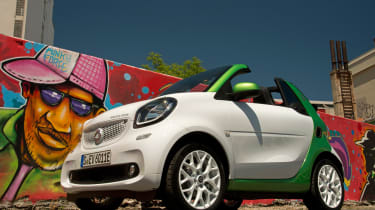 Smart ForTwo Electric Drive Cabrio - front/side static