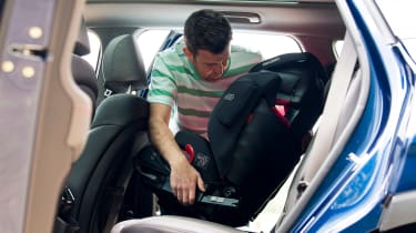 Hyundai Santa Fe - long-term first report car seat