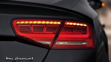 Audi A8 Hybrid badge
