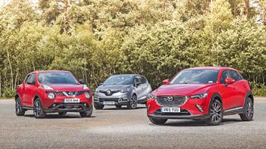 Mazda CX-3 vs Nissan Juke vs Renault Captur