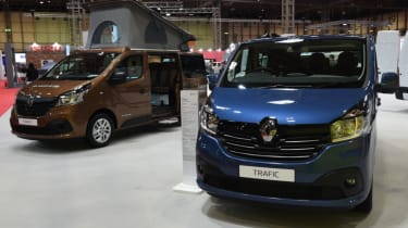 Renault vans at commercial vehicle show