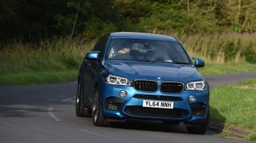 The more practical X5M costs almost £3,000 less yet is just as fast in a straight line.