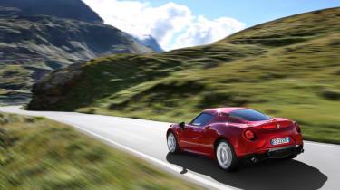 The Alfa's carbon-fibre monocoque means it weighs less than 900kg.