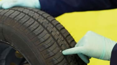 Tyre - tread depth/finger