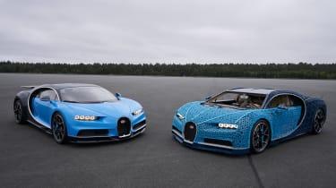 Lego Bugatti Chiron - side by side