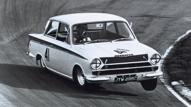 Ford Lotus Cortina on track