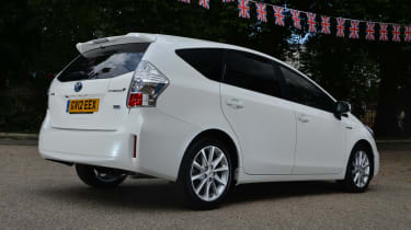Toyota Prius+ rear action