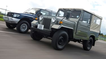 Mitsubishi's 100th year celebration - Jeep CJ-38 and Shogun