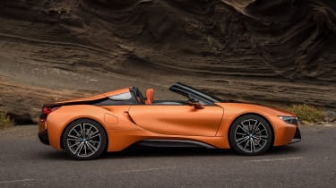 BMW i8 Roadster - roof down