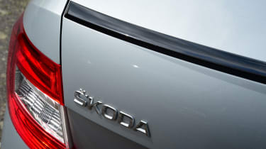Skoda Octavia - badge and spoiler