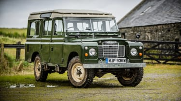 A Land Rover Series III.
