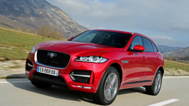 Jaguar F-Pace first drive - front tracking 3