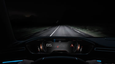 New Peugeot 508 - night vision