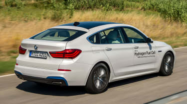 BMW 5 Series GT Hydrogen Fuel Cell - rear tracking