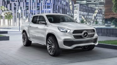 Mercedes X-Class concept - silver front static