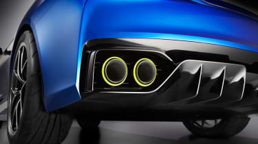 Subaru WRX STi concept exhaust