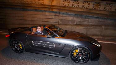 Jaguar F-Type SVR Tunnel Run - side profile