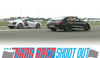 Audi R8 vs Mercedes S63 drag race