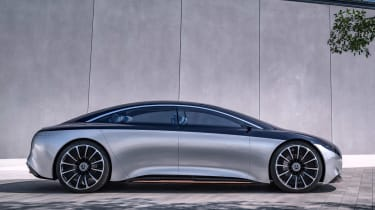 Mercedes Vision EQS concept - side