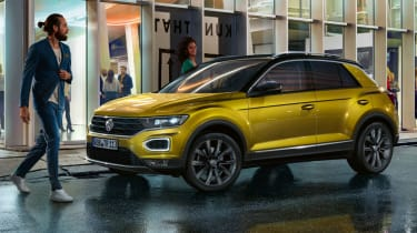 Volkswagen T-Roc: technology when you work, rest and play (sponsored) - front quarter
