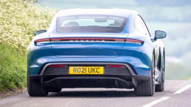 Porsche Taycan RWD - rear action