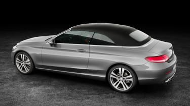 Mercedes C-Class Cabriolet - front roof up