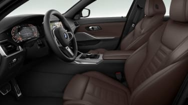 Leaked BMW 3 Series - front seats brown