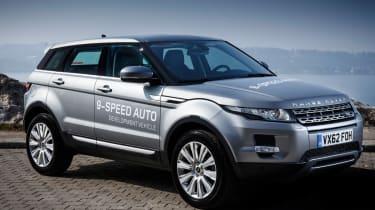 Range Rover Evoque nine-speed front three-quarters