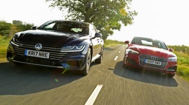 Twin test - VW Arteon vs Audi A5 - group