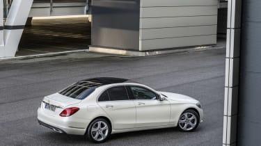 Mercedes C-Class 2014 white rear