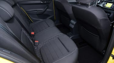 Skoda Fabia Estate 2015 rear seats